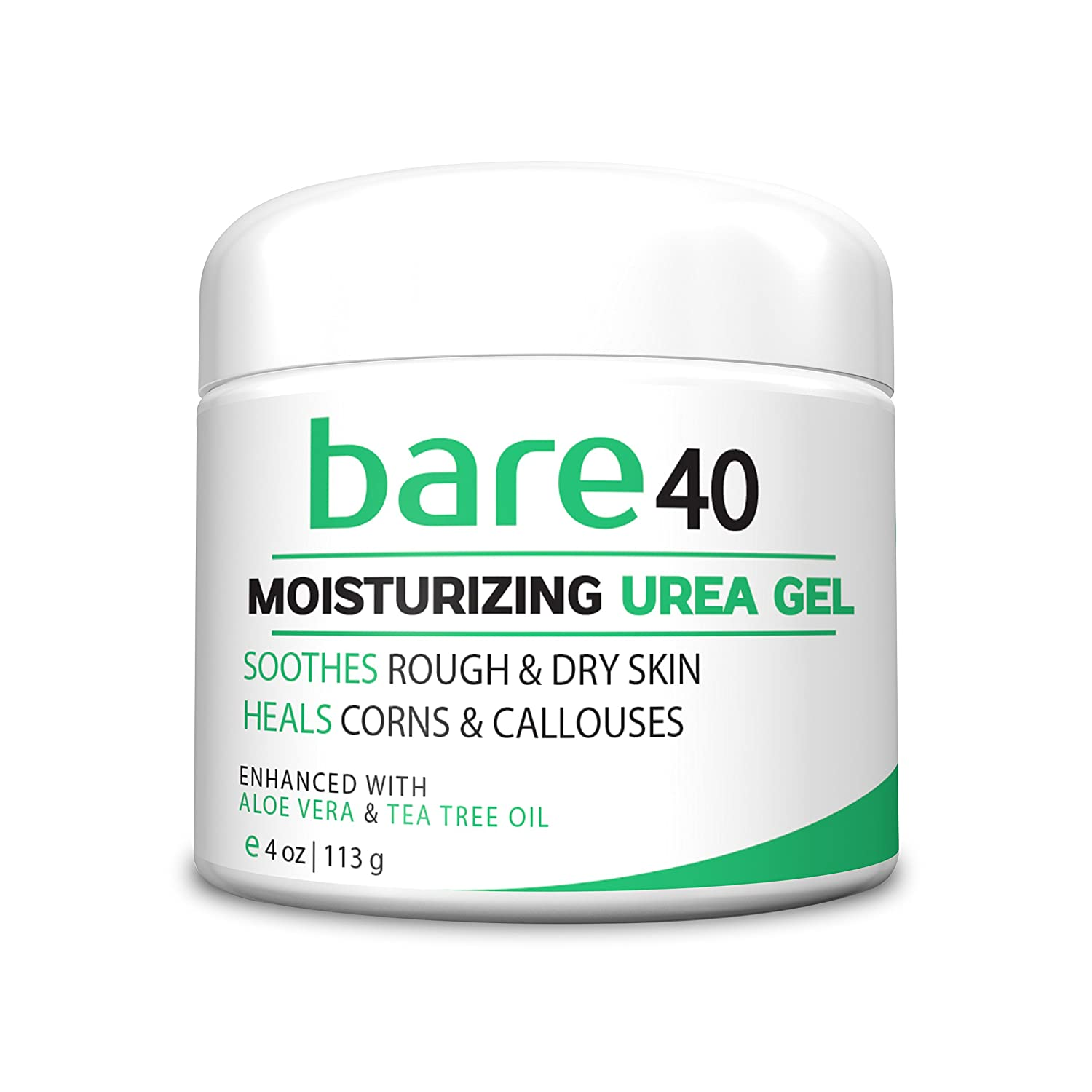 Bare Urea 40% Percent Cream for Hands, Feet, Elbows and Knees - Corn & Callus Remover - Skin Exfoliator & Moisturizer - Repairs Thick, Callused, Dead and Dry Skin