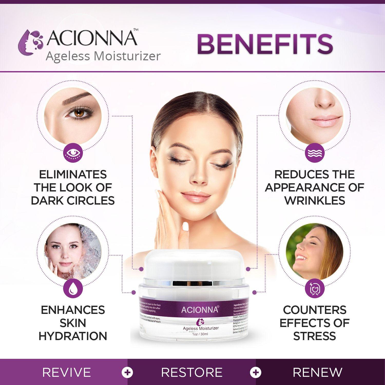 Acionna Optimizing Mist - Anti-Aging Infusion Formula - Invigorating and Rejuvenating Purple Prairie Botanicals - Luxurious Face Creme Carrot Rose - 2 oz.