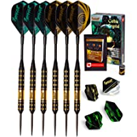 IgnatGames Steel Tip Darts Set - Professional Darts with Aluminum Shafts, O'rings, Standard and Slim Flights + Dart Sharpener + Innovative Case