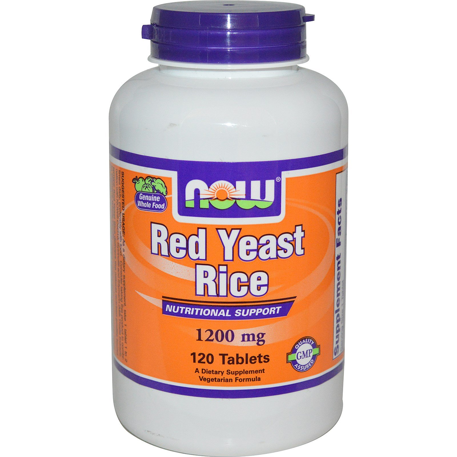Now Foods, Red Yeast Rice, 1200 mg, 120 Tablets - 3PC