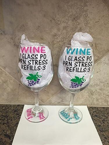 Amazing Gift For Nurses Wine Glass   Customized Wine Glasses   Personalized Wine  Glass   Funny Wine