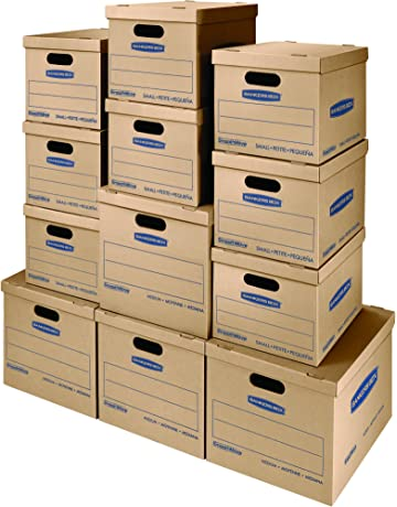 Office file boxes Paper Bankers Box Smoothmove Classic Moving Kit Boxes Tapefree Assembly Easy Carry Handles Amazoncom Storage File Boxes Amazoncom Office School Supplies Office