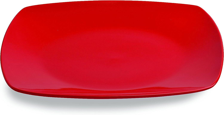 Plato Llano 26 x 26 cm, Forma Cuadrada Color Negro Tognana