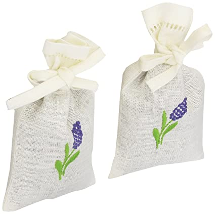 Juego de 2 bolsas de lavanda de lino en color hueso: Amazon ...