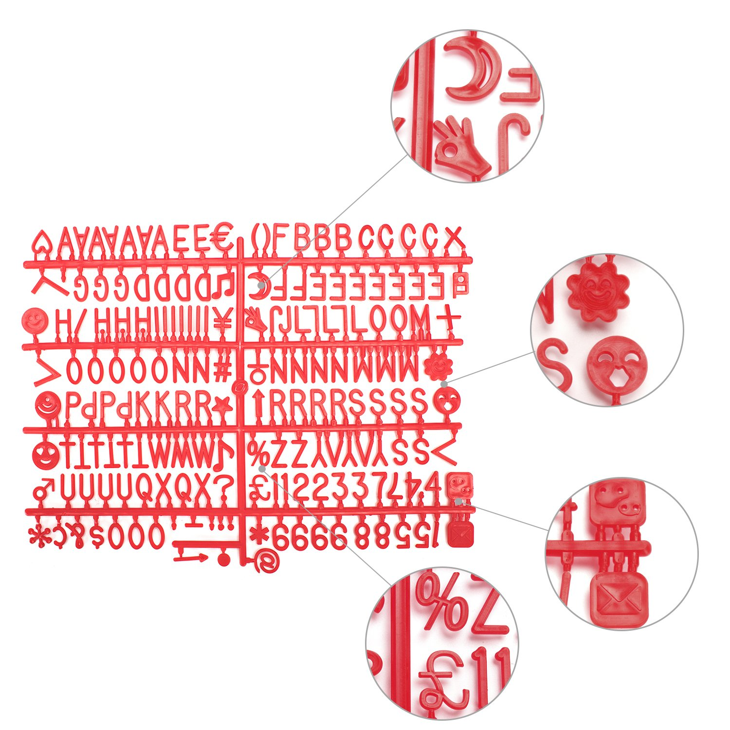 Amazon.com : Losga 362 Red Letters For Changeable Felt Letter Boards ...