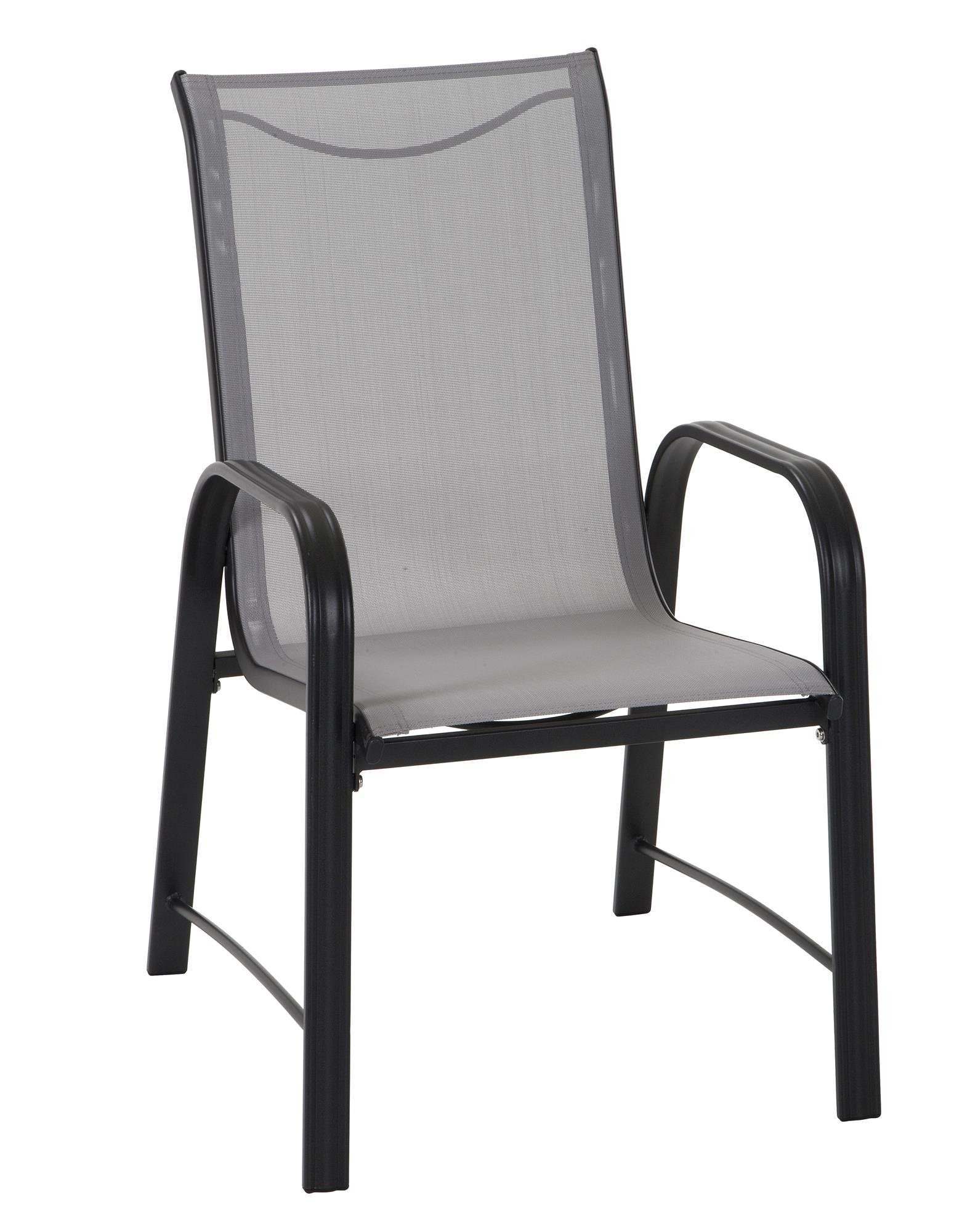 Cosco 88645GLGE Paloma Patio Steel Frame Dining Chairs, Light Gray by Cosco