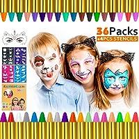 Gifort Pinturas Cara para Niños, 36 Colores Pintura