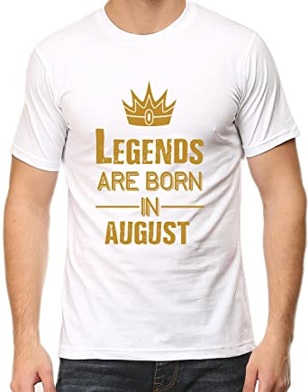 96657865b Tee Talkies Legends are Born in August T Shirt for Mens Premium Cotton Mens  Birthday T