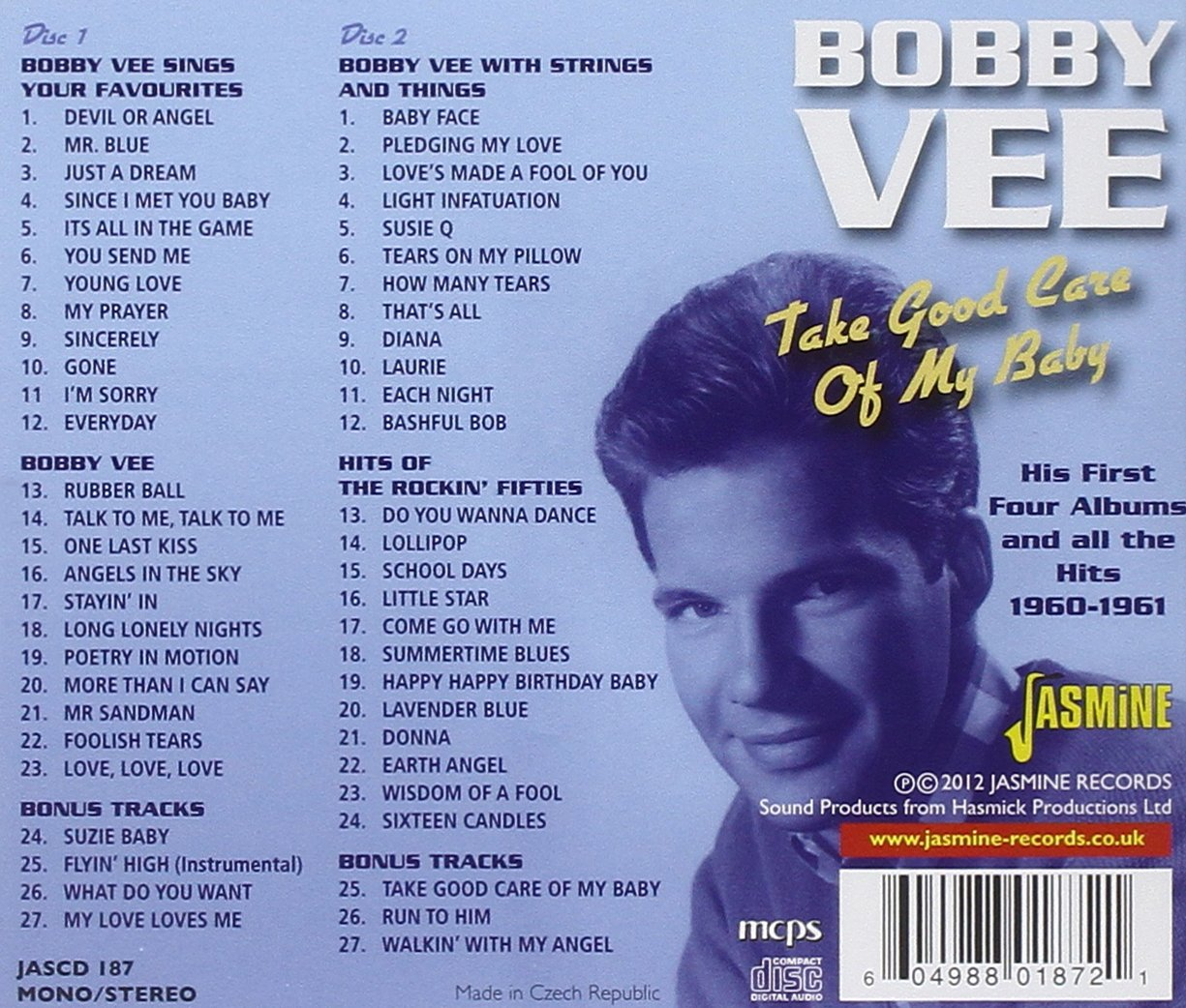Bobby Vee - Take Good Care Of My Baby - His First Four Albums And ...