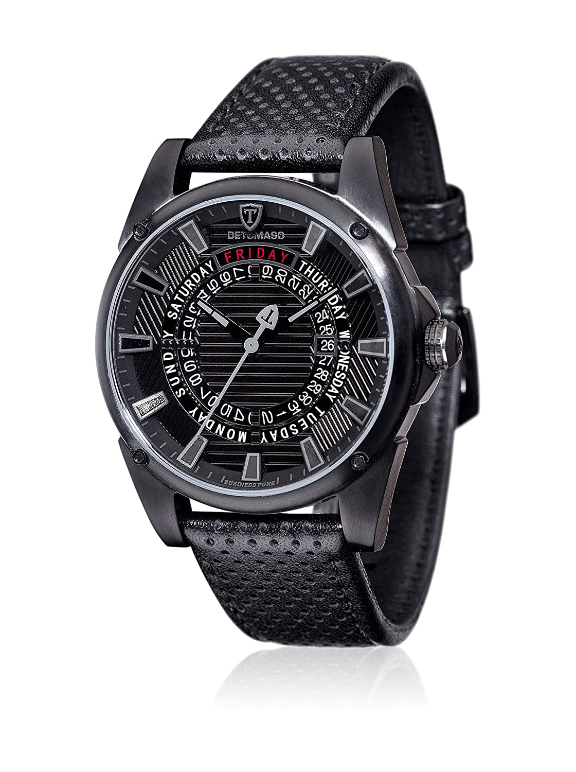 DETOMASO Herren-Armbanduhr Business Punk Black Man'S Man Young Guns Analog Quarz DT-YG105-B