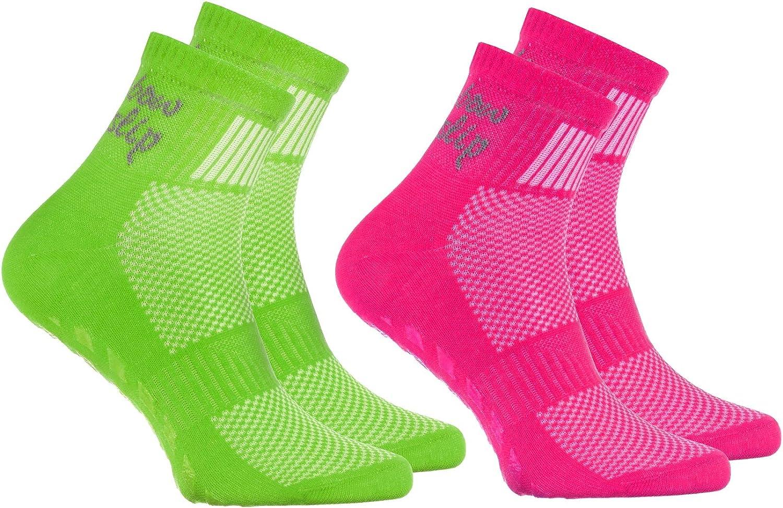 Rainbow Socks - Niño Niña Deporte Calcetines Antideslizantes ABS de Algodón