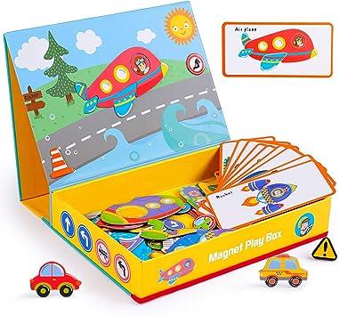 Rolimate Juguetes de Madera Rompecabezas magnéticos, Juegos de Mesa de Juguete de Aprendizaje Educativo Montessori, cumpleaños para niños de 3 4 5 6 años: Amazon.es: Juguetes y juegos