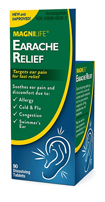 MagniLife Earache Pain and Discomfort Relief Treatments: Cold/Flu, Congestion, Swimmers Ear