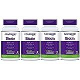Natrol Biotin, Maximum Strength, 10,000 mcg Tablets 100 ea (Pack of 4)