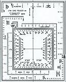 "Westcott UTM Map Grid Reader/Plotter, 5"" by 6"", Transparent (GR-2)"