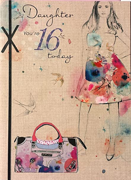Daughter 16th Birthday Card By Wishing Well