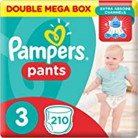 Pampers Pants Diapers, Size 3, Midi, 6-11 kg, Double Mega Box, 210 Count
