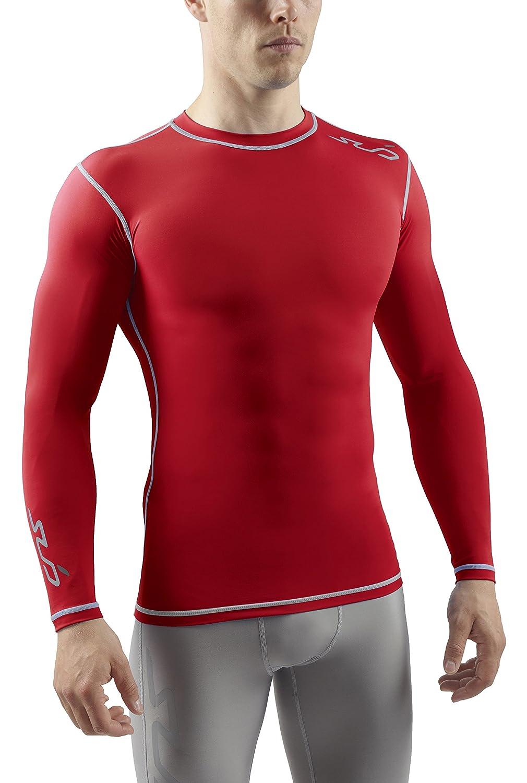 SUB Sports DUAL Mens Compression Shirt - Long Sleeve All Season Base Layer