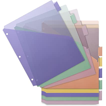 business source 32373 poly index dividers double pocket 8 tab 8 12quot