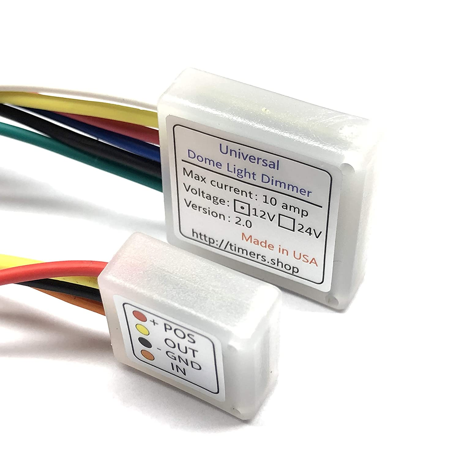 Dome Light Dimmer With Delay Fits Any Car 20 Sec And Time Relay Circuit Diagram Also On Dei Wiring 10 Min Timeout Automotive