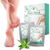 Exfoliating Foot Mask Peel (2-Pairs) - Peeling Away Calluses and Dead Skin cells, Repair Rough Heels, Get Silky Soft Feet by Purtoca