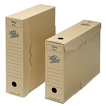 Archivo archivador de caja de almacenaje - tamaño folio: Amazon.es: Oficina y papelería