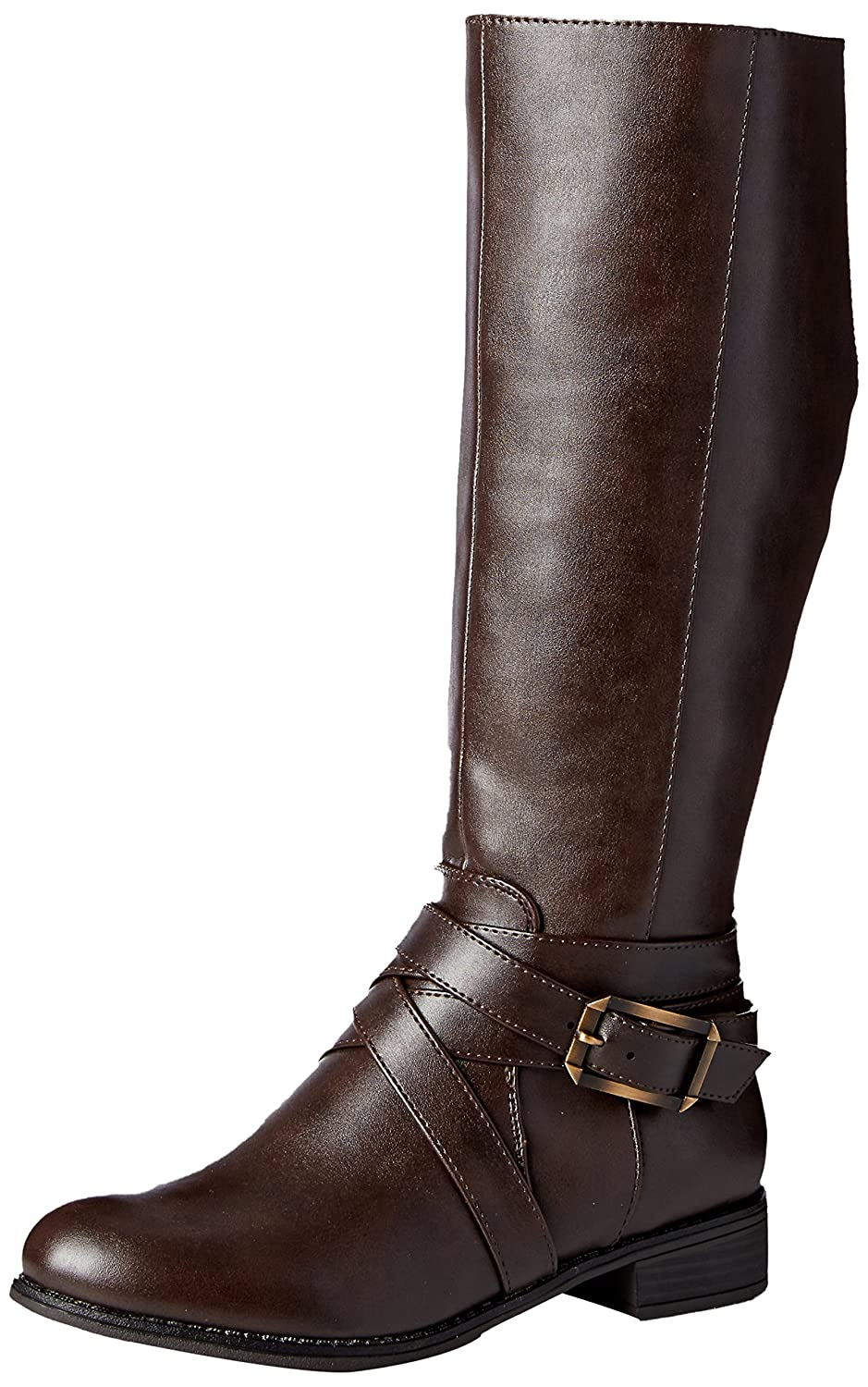 LifeStride Women's Subtle Equestrian Boot B01M0IRSQF 6 W US|Dark Brown
