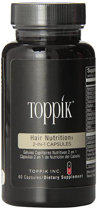 TOPPIK Hair Nutrition 2-in-1 Capsules, 60 Capsules