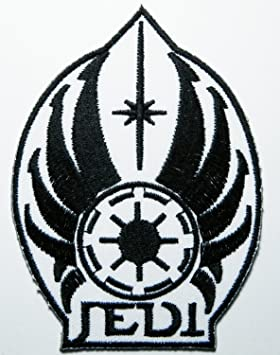 ecusson brode star wars jedi logo embroidered sew iron on patch