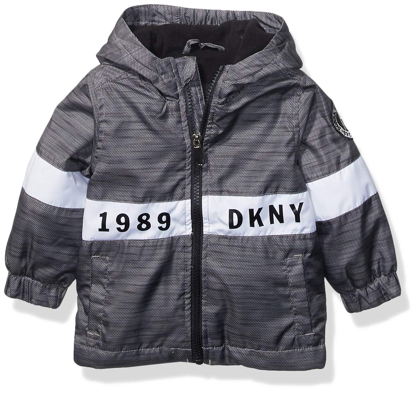 DKNY Baby Boys Fashion Outerwear Jacket, Since 1989 Heather Gray Print, 18M by DKNY