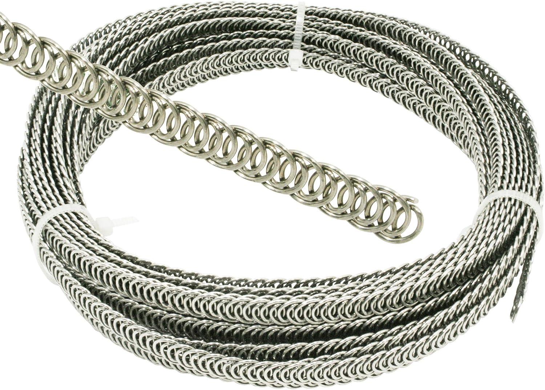 Eloja/® 10 Meter Spiralfedern Korsettst/äbe Korsagenst/äbe Spiralbandstahl Korsage Korsett 8 mm Edelstahl