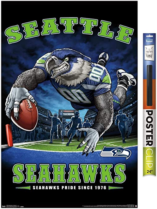 Seattle Seahawks Russell Wilson poster wall decor photo print 24x24 inches