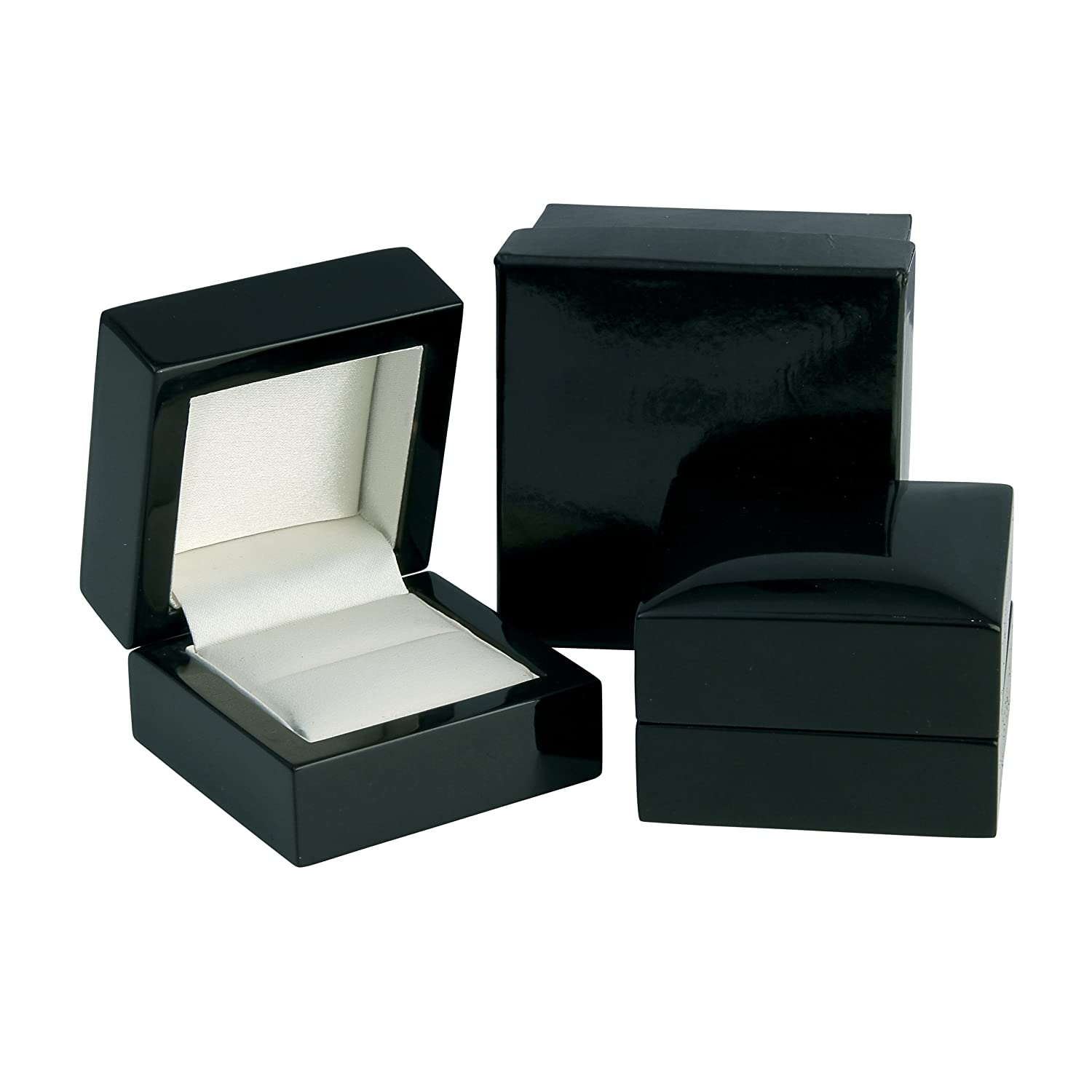 Luxury High Gloss Wooden Ring Box - Black Wood Amazon.co.uk Kitchen u0026 Home  sc 1 st  Amazon UK & Luxury High Gloss Wooden Ring Box - Black Wood: Amazon.co.uk ... Aboutintivar.Com