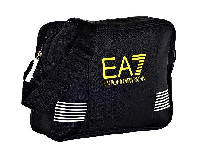 1779b891f3 Amazon.com: Emporio Armani EA7 Men's Striped Front Crossbody Gym Bag ...