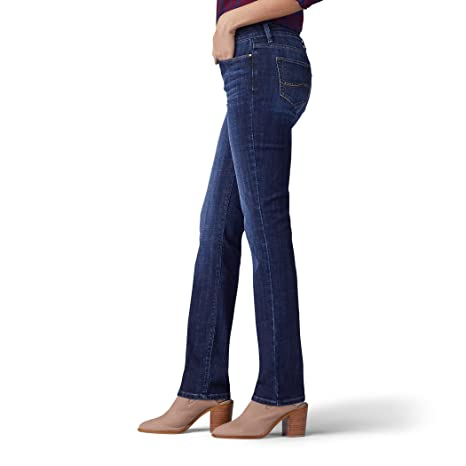 LEE Womens Secretly Shapes Regular Fit Straight Leg Jean