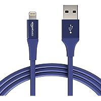 AmazonBasics kabel Lightning USB A, kolekcja premium, 1,8 m, 1 opakowanie - niebieski