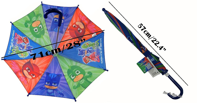 Paraguas Adorable para Niños, Paraguas PJ Máscaras, Paraguas Disney, con Licencia Oficial: Amazon.es: Equipaje