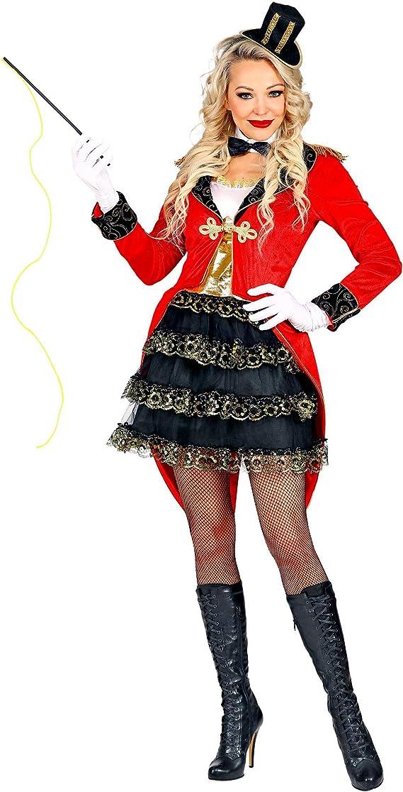 WIDMANN 09542 Disfraz de director de circo, mujer, negro/rojo, M ...