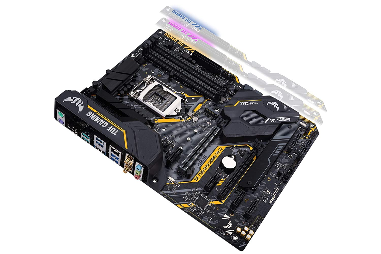 ASUS TUF Z390-Plus Gaming (Wi-Fi) LGA1151 (Intel 8th and 9th Gen) DDR4 DP  HDMI M 2 Z390 ATX Motherboard 802 11ac Wi-Fi USB 3 1 Gen2