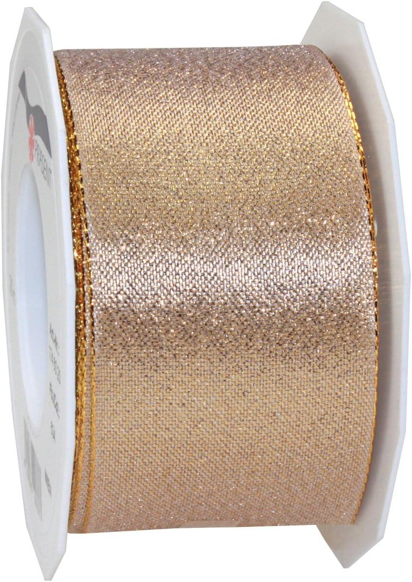 dise/ño de entramado con bordes 5 mm x 50 m color dorado Rollo de cinta con alambre met/álico Pattberg Wien Pr/äsent C.E