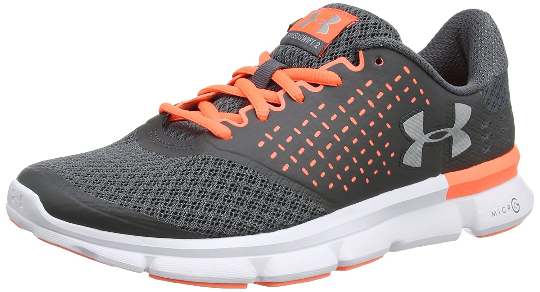 Under Armour Women's Speed Swift 2 Running Shoe B01GQIXNU8 6 M US|Rhino Gray (077)/London Orange