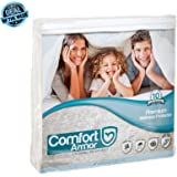 COMFORT ARMOR Mattress Cover, Queen Size, Waterproof and Hypoallergenic Cover, Protects Mattress from Spills, Body Fluids, Dust Mites, Vinyl Free Breathable Surface