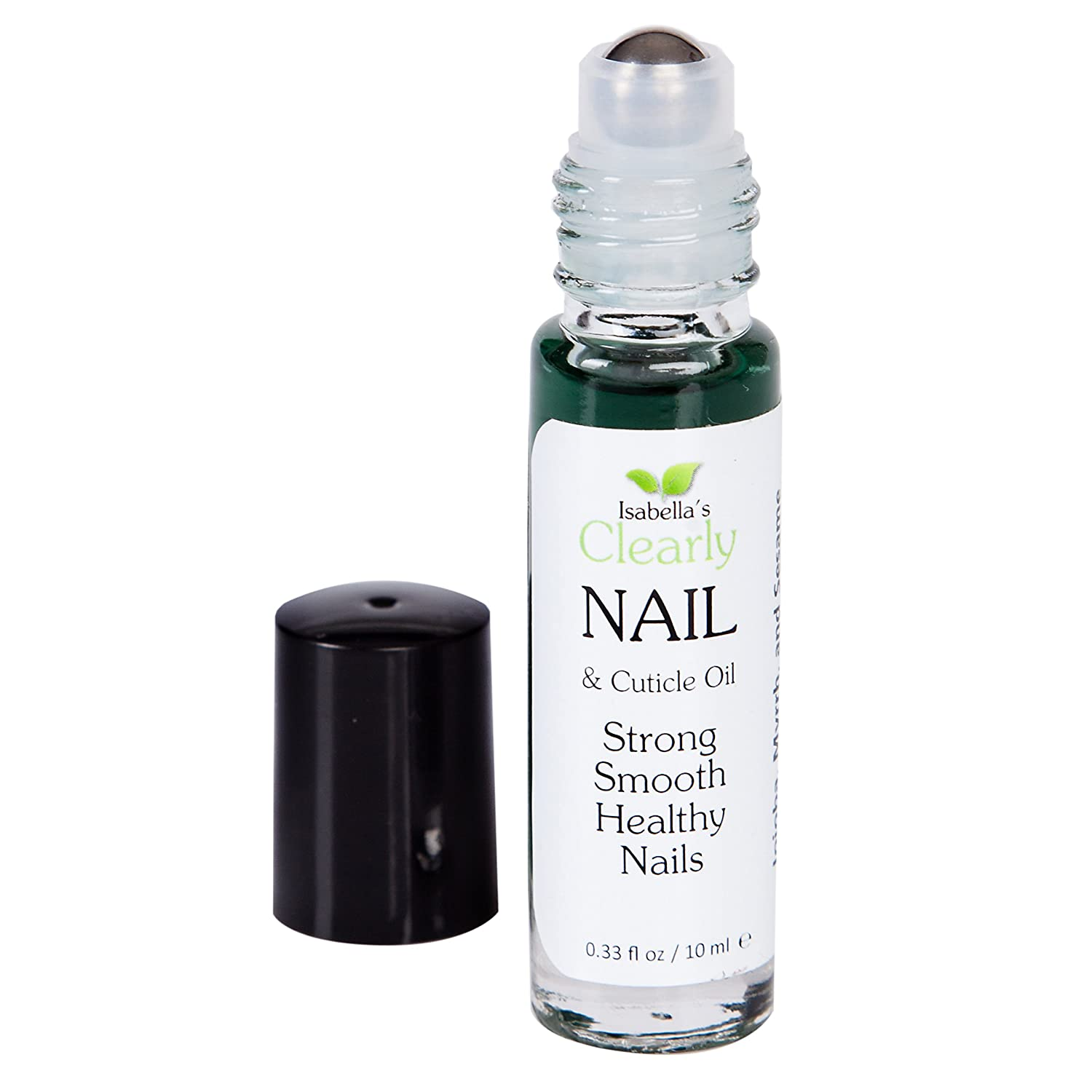 Isabella's Clearly NAIL - Best Natural Nail & Cuticle Oil. Moisturize Dry Cuticles, Treat Brittle Cracked Nails. Strong, Smooth & Healthy. Vitamin E, Almond, Jojoba, Tansy, Myrrh, Anti-Fungal Tea Tree, 0.3 Oz Isabella's Clearly 10002