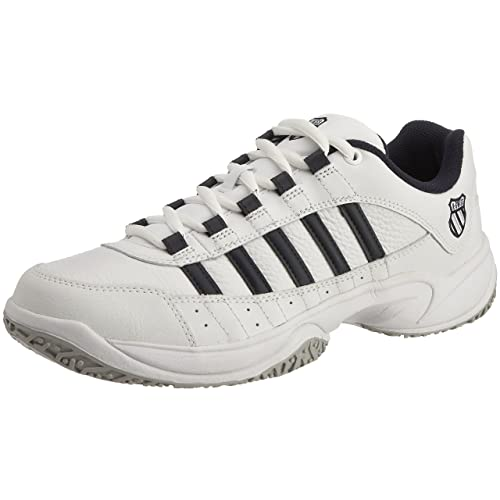 K-Swiss Outshine Omni Eu Zapatillas de tenis de cuero para hombre, Blanco (