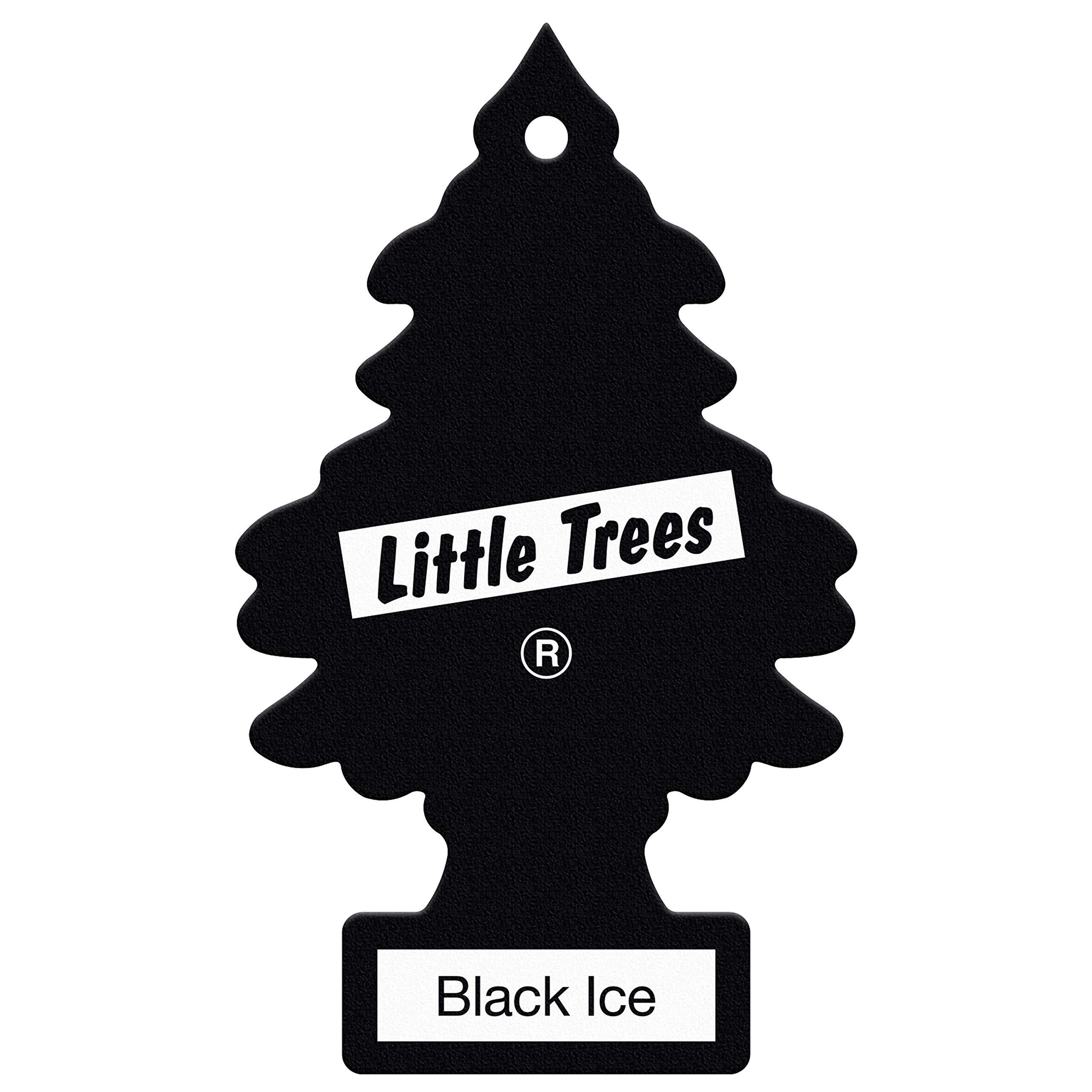 LITTLE TREES Air Freshener Black Ice Fragrance MTR0004- for Car Home - 1 Unit