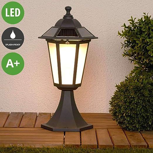 LED Lámparas solares Kristin (Moderno) en Negro hecho de Aluminio (6 llamas, A+) de Lindby | lámpara solar, lámpara solar jardín: Amazon.es: Iluminación