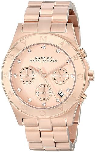 Marc Jacobs MBM3102 - Reloj para mujer con correa de acero, color dorado/gris: Marc By Marc Jacobs: Amazon.es: Relojes