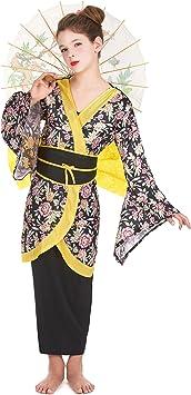 Disfraz de geisha para niña - 10 - 12 años: Amazon.es: Juguetes y ...