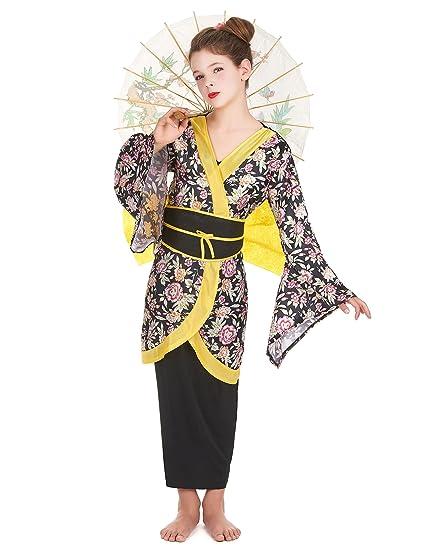Disfraz de geisha para niña: Amazon.es: Juguetes y juegos