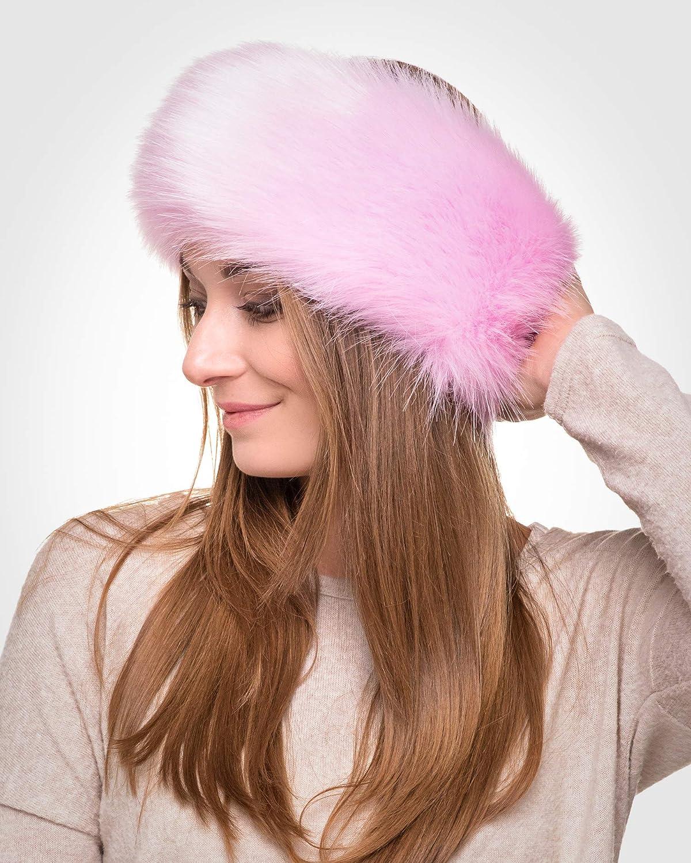 Fancy Ear Warmer Futrzane Winter Faux Fur Headband for Women Like Real Fur